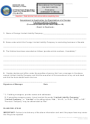 Form 86 - Amendment To Application For Registration Of A Foreign Limited-liability Company - 2000