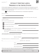 Form G-900 - Affidavit Verifying Lawful Presence In The United States