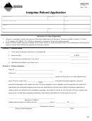 Montana Form Ct-203 - Insignias Refund Application