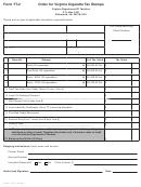 Form Tt-2 - Order For Virginia Cigarette Tax Stamps