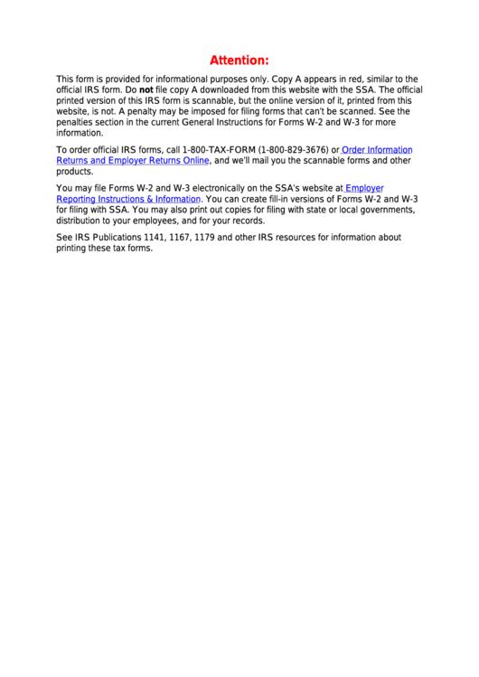 Fillable Form W-2vi - U.s. Virgin Islands Wage And Tax Statement - 2014 Printable pdf