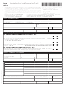 Form Lpc-1 - Application For A Land Preservation Credit