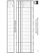 Form Dr-15aw - Sales And Use Tax Worksheet - 2000
