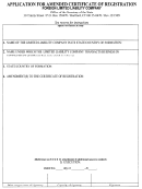 Application For Amended Certificate Of Registration For A Foreign Limited Liability Company - Connecticut Secretary Of State
