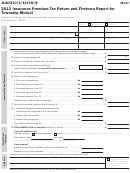 Form M11t - Insurance Premium Tax Return And Firetown Report For Township Mutual - 2012
