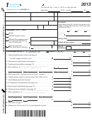 Form 1 - Wisconsin Income Tax - 2013