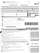 Form4 - Wisconsin Corporation Franchise Or Income Tax Return - 2013