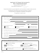 Form 24734 - Application For Property Tax Incentives For New Or Expanding Businesses