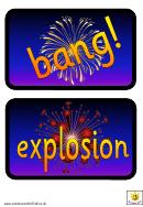 Bonfire Night Flash Cards Template