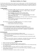 Basic Outline Of A Paper Template