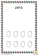 Toy Number Tracing Sheet - 0-10