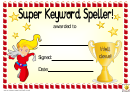 Super Keyword Speller 2 Award Certificate Template
