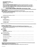 Form Dos-125 - State & Further State District Notice - New York Secretary Of State