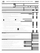 Form 41 - Idaho Corporation Income Tax Return - 2003