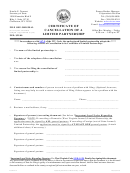 Form Lp-4 - Certificate Of Cancellation Of A Limited Partnership - West Virginia Secretary Of State