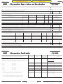 California Schedule B (100s) - S Corporation Depreciation And Amortization - 2003