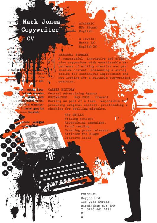 Copywriter Resume Template Printable pdf