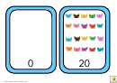 Butterfly Number Chart 0-20