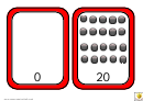 Spots Number Chart 0-20