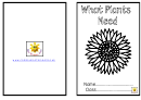 What Plants Need Activity Sheets