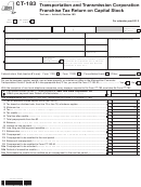Form Ct-183 - Transportation And Transmission Corporation Franchise Tax Return On Capital Stock - 2012