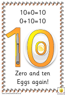 Number Rhyming Chart - 0-10