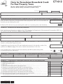 Form Ct-612 - Claim For Remediated Brownfield Credit For Real Property Taxes - 2012