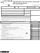 Form Ct-184-m - Transportation And Transmission Corporation Mta Surcharge Return - 2012
