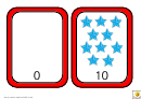 Stars Number Chart - 0-10