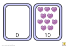Hearts Number Chart - 0-10