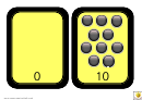 High Visibility Spots Number Chart - 0-10