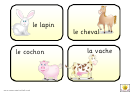 French Vocabulary Flash Cards Template - Les Animaux