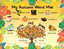 My Autumn Word Mat Poster Template