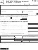 Form It-203-s - Group Return For Nonresident Shareholders Of New York S Corporations - 2012