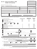 Form Ab-123 - Distilled Spirits / Wine Permit Application