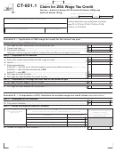 Form Ct-601.1 - Claim For Zea Wage Tax Credit - 2011