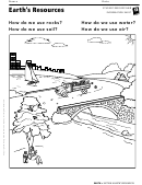 Earth's Resources Geography Worksheet