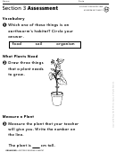 Section 3 Assessment Building A Habitat Biology Worksheet