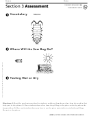 Section 3 Assessment Animal Structures And Habitats Biology Worksheet