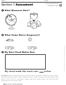 Section 1 Assessment Water And Weather Geography Worksheet