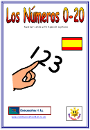 Number Chart With Spanish Captions - 0-20