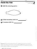 Finish The Fish Activity Sheet