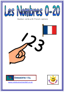 Number Chart With French Captions - 0-20