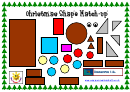 Kids Activity Sheet - Christmas Shape Match-up