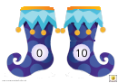 Christmas Super Socks Number Chart - 0-10