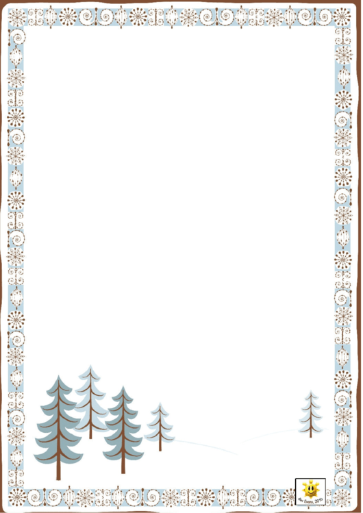 Winter Border Paper Printable pdf