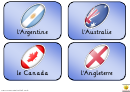 Rugby World Cup Teams Flash Card Template In French - 2011