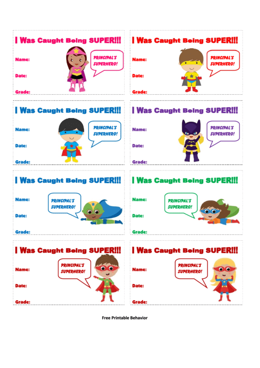 Superhero Kids Coupon Template