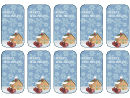 Happy Holidays Gift Tags Template