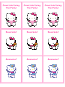 Hello Kitty Potty Coupon Templates